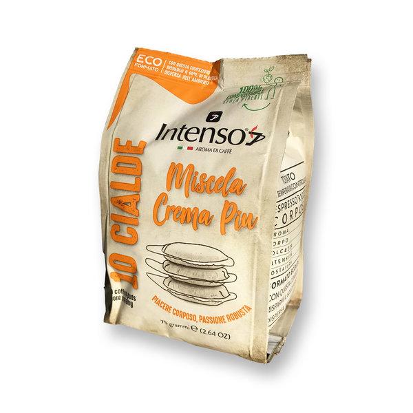 Intenso Crema Piu Espresso (100 % Robusta), 12 x 10 E.S.E.-Pads (lose verpackt)