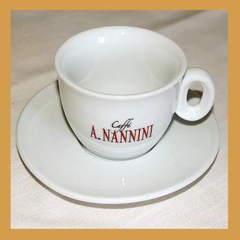 A. Nannini Cappuccino-Tasse, Set mit 2 Tassen und Untertellern