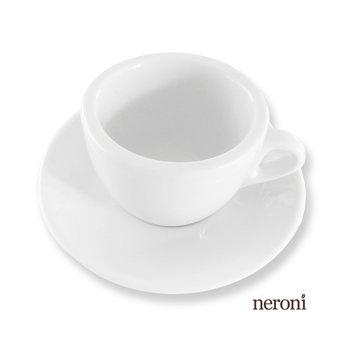 Italienische Cappuccino-Tasse im Bardesign, Set mit 2 Tassen und Untertellern