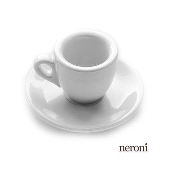 Italienische Espresso-Tasse im Bardesign, Set mit 2 Tassen und Untertellern