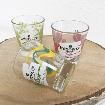 Intenso Espresso Gläser, Set mit 3 Gläsern