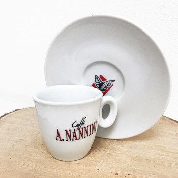 A. Nannini Espresso-Tasse, Set mit 2 Tassen und Untertellern